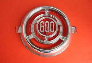 """Frontzierstück """"600"""" center front horn cover emblem Fiat 600, 600D, 600 Multipla"""