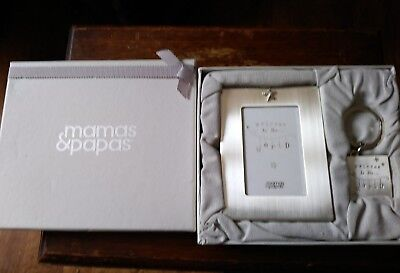Mamas & papas welcome to the world photo frame & keyring new
