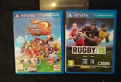 lot 2 jeux vidéo PS vita sony Playstation one pièce rugby