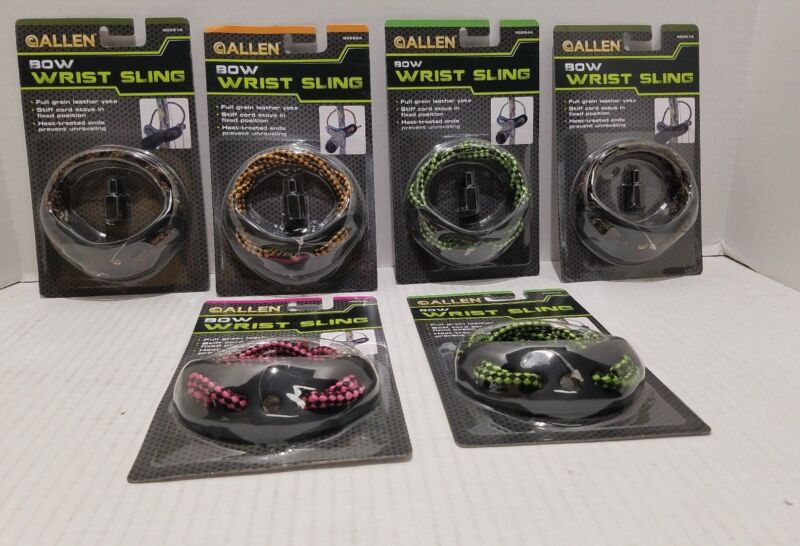 ALLEN Bow Wrist Sling-4 Assorted Colors-66290A-LOT OF 6