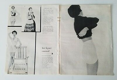 1954 womens Playtex magic controller brief girdle foundations vintage fashion ad