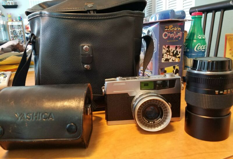 Vintage Petri Camera with Case Lenses