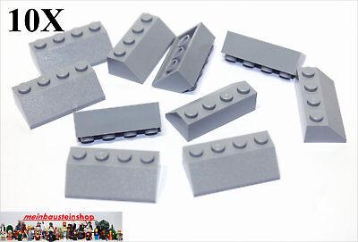 Gray NEU 10X Lego® 3037 Dachsteine Slope Roof 45° 2X4 neues Hellgrau Light Bl