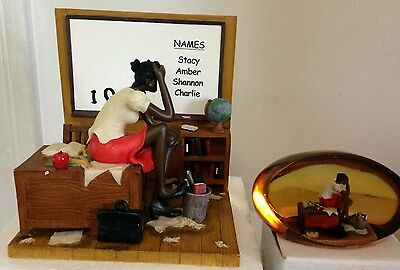 Annie Lee 5th Grade Substitute Limited Edition Figurine & Paperweight Set $60
