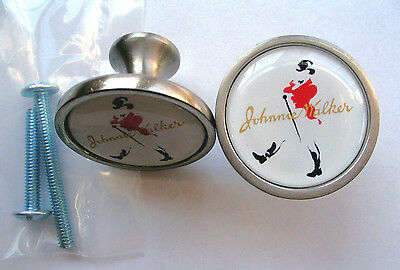 Johnnie Walker Cabinet Knobs, Johnnie Walker Logo Cabinet Knobs, Johnnie Walker