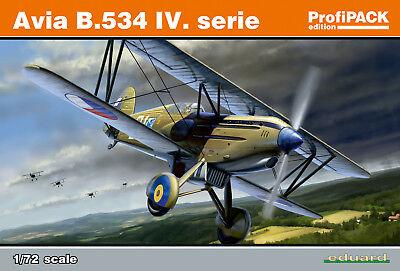 534 Serie (Avia B.534 IV.Serie 1/72 Eduard Modellbausatz 70102 Profi Pack)