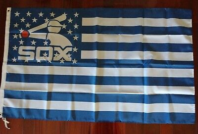 Chicago White Sox 3x5 American Flag. US seller. Free shipping within the US