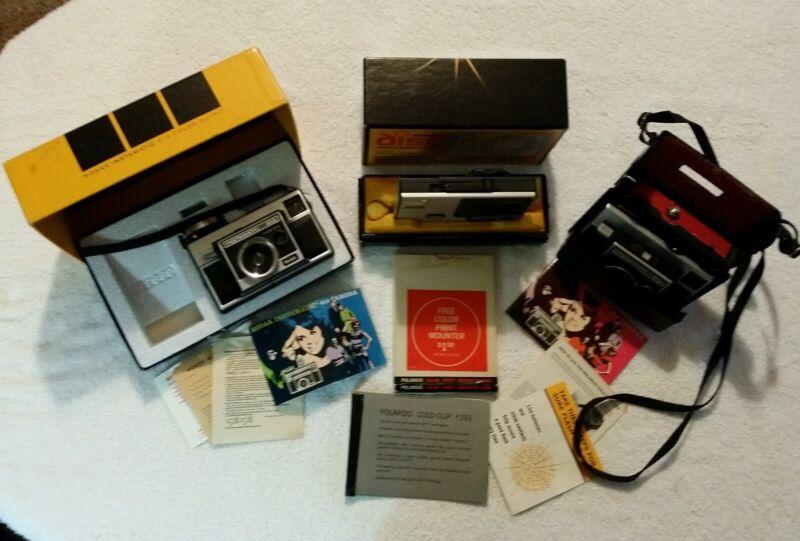 Kodak Disc 4000 Camera Instamatic 414 314 LOT SOME IN ORIGINAL BOX L@@K!!!