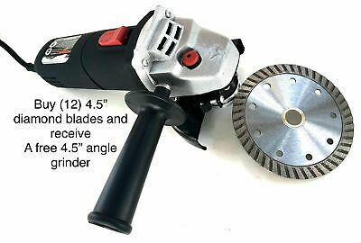 4 12 Diamond Turbo Blade Buy 12 And Receive A Free 4.5 Angle Grinder