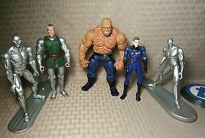 "Mixed 5"" & 6"" Fantastic Four 4 Lot Marvel Legends Thing Dr Doom Silver Surfer Mr"