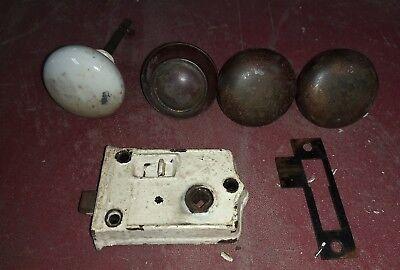 Lot of vintage metal door knobs hardware - rustic, salvage, arts/crafts