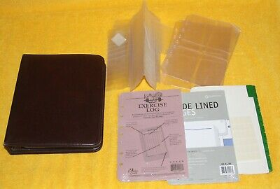 Franklin Covey Burgundy Faux Leather Classic Planner 7-ring Binder Usa Extras