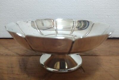 Simple vintage silver plated presentation bowl - 12cm wide, 5cm Tall