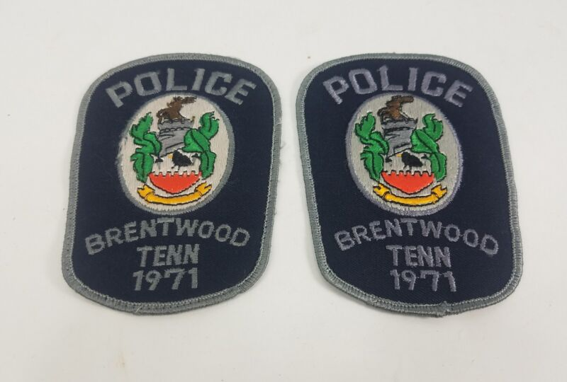 Collectible Vintage Police Patch Lot Brentwood Tennessee Police  -1971  Z3