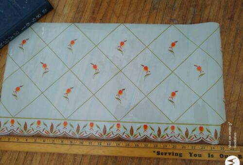 1956-1957 Autumn Leaf Jewel Tea Plastic Shelf Liner Paper Hall China - $39.99