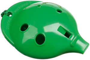 Plastic-OCARINA-Green-4-hole-How-to-Play-card-Easy-to-play-Musical-Instrument