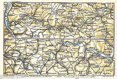Lahn-Tal 1931 kl. orig. Karte Nassau Holzapfel Diez Limburg Weilburg Leun Runkel