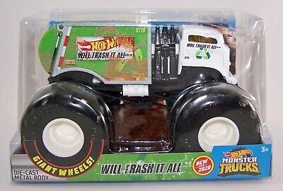 2020 Hot Wheels 1:24 WILL TRASH IT ALL Diecast Monster Truck - NEW