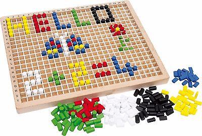 Steckbox Kreativ Holz Steckspiel 500 Stecker Kreativität Spielzeug für Kinder