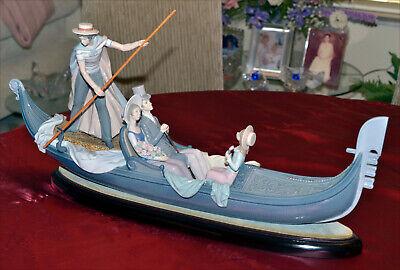 Lladro Gondola Porcelain Figurine Gloss Finish Excellent Condition