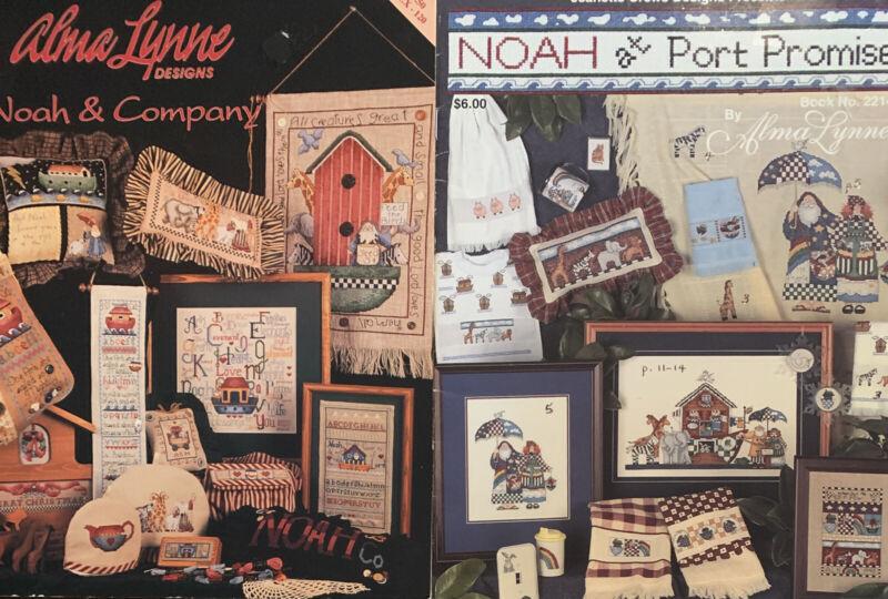 """Noah & Company"" ""Noah At Port Promise"" Cross Stitch Leaflets Alma Lynne Ark #2"