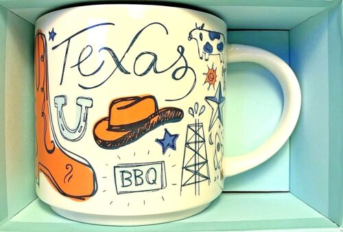 Starbucks Mug Been There Series Collectible Texas Color 2018 14 Oz New LE