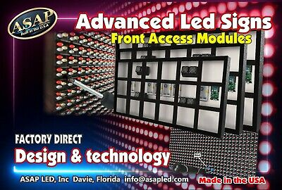Programmable Led Sign Full Color 13x38 Fulloutdoor High Res P10 Mm Display