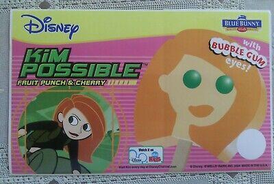 Rare Retired Disney Kim Possible Ice Cream Truck Sticker Decal 2004