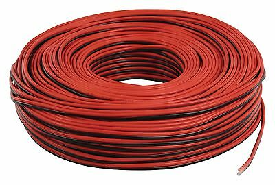 Cavo per altoparlanti rosso/nero 2x0.35mm² PIATTINA IN RAME 2 X 0,35 MM²100
