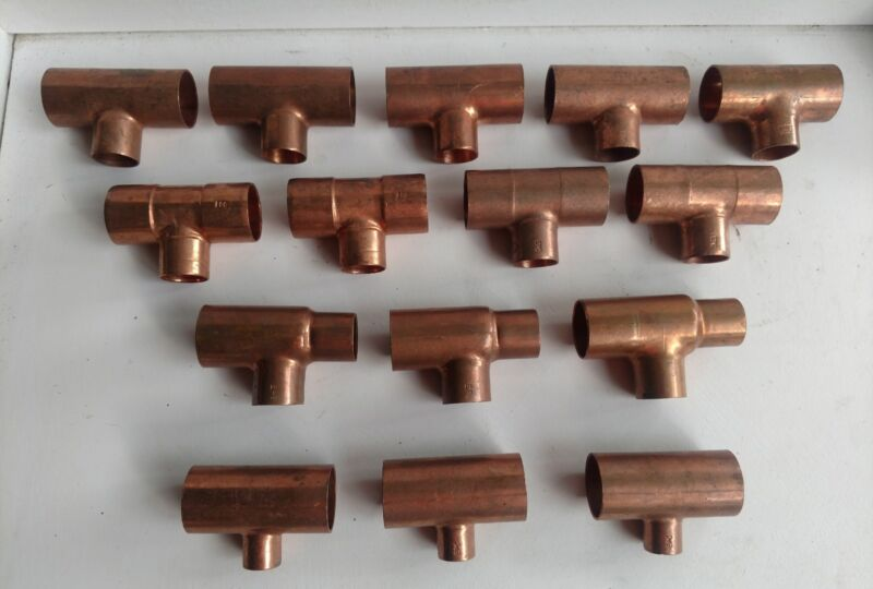 Copper Reducing Tees - Lot# 780