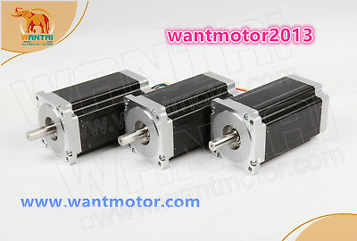 Best Wantai 3pcs Nema34 Stepper Motor Single Shaft 6a 1700oz-in Cnc Kit
