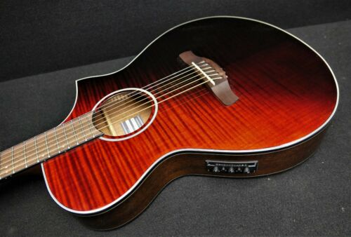 IBANEZ AEWC32FM-RSF 6 STRING EXOTIC Acoustic-Electric FLAME TOP Fishman Pickup