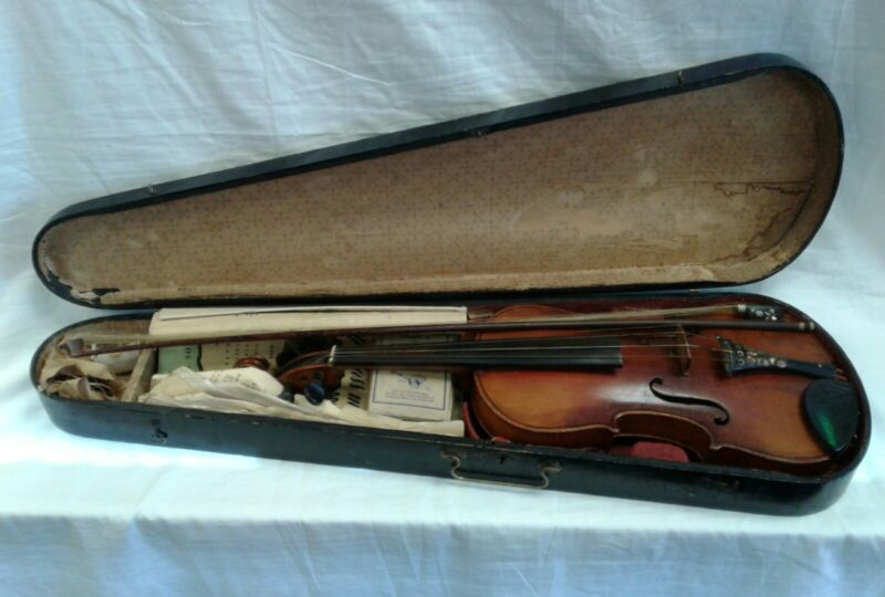 """Vintage Antonius Stradivarius Violin """"Cremonensis Faciebat"""" Anno 17  II Replica"""