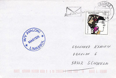 CYPRUS FERRY SHIP MV AVALONI A SHIPS CACHED COVER