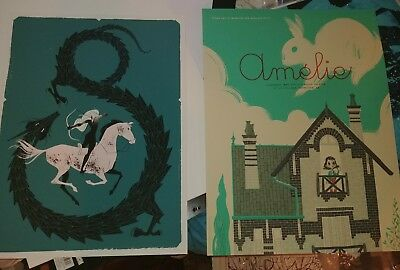 Anne Benjamin set of two prints Amelie Dragon Print Poster Mondo artist limited