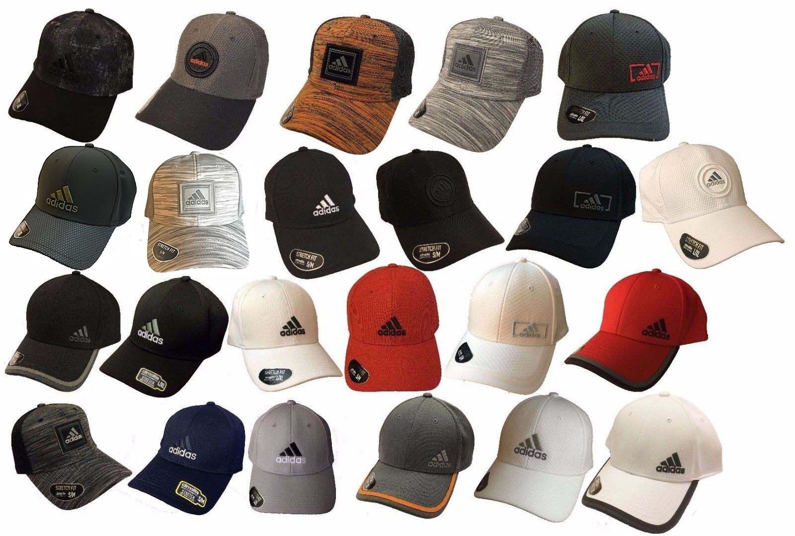 Adidas Climalite Flex Fit Stretchable Baseball Hat Cap-Moist