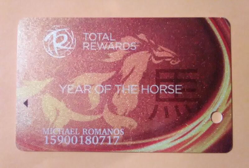 CAESARS CASINO HARD TO FIND YEAR OF THE HORSE SLOT CARD GREAT FOR ANY COLLECTION