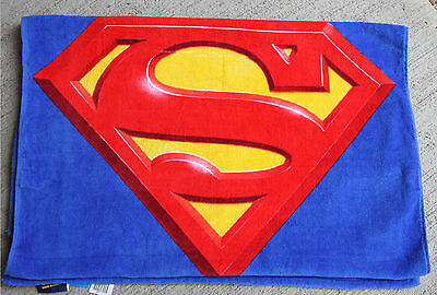 Personalized Embroidered Superman Beach Towel SuperHero for Boys 30x60 red blue](Towels For Boys)