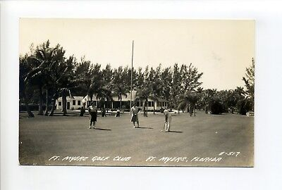 Fort Myers FL RPPC real photo vintage postcard, women playing golf, golf (For Women Fort Myers)