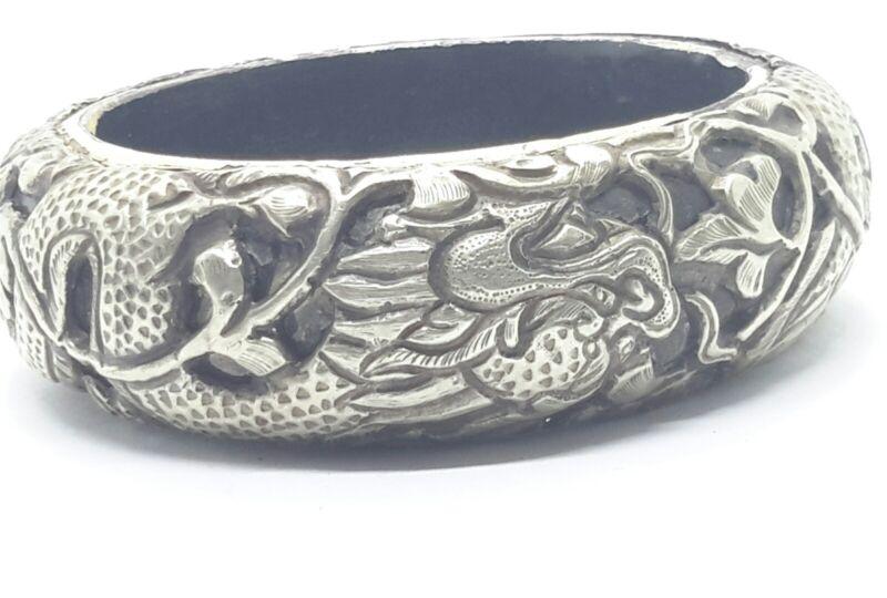 ANTIQUE Chinese Silver Dragon Bracelet