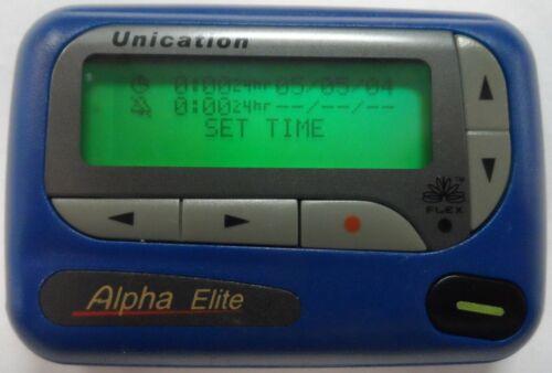Unication 4 line Alpha Elite Pager BLUE  VHF FLex 153.6350