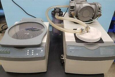 Labconco 7810000 Centrivap Centrifugal Concentrator 7811000 Cold Trap System
