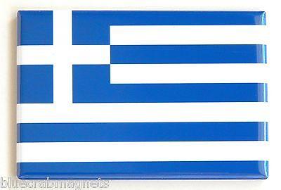 Flag of Greece FRIDGE MAGNET (2 x 3 inches) greek flag ()