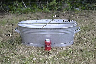 Vintage old metal aluminium bath washing tub bowl 65.5 cm dog wash  FREE POSTAGE