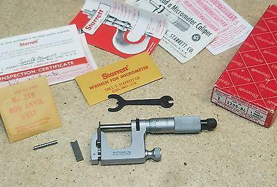 Starrett No. 220 Mul-t-anvil 1 Micrometer Mint