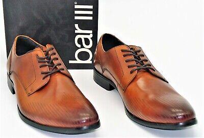 fad6bda555a NIB Bar III (M3) Hunter Dress Shoes Textured Detailed To Dark Tan Mens SZ