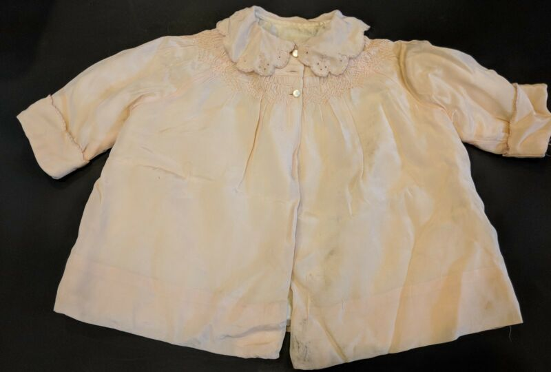 Antique Embroidered Baby Doll Pink Coat