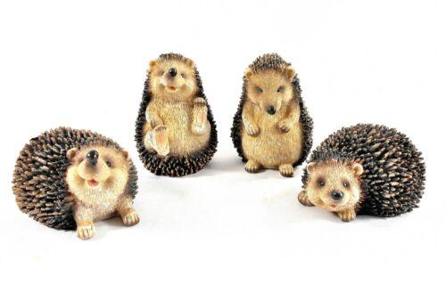 Four Adorable Hedgehog Sculptures – Cute Hedgehog Figurines