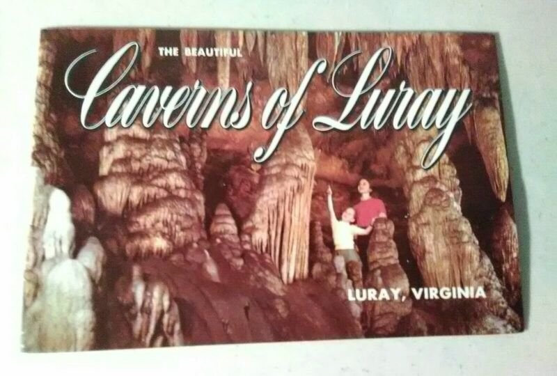 Rare Nice Color Caverns Booklet 1950