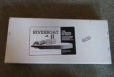 Vintage Stern Wheeler Riverboat Model Wood Kit Boat Seaman Fun Factory
